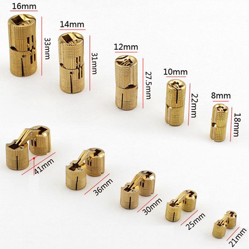 1x Hidden Hinge Invisible Hinge Barrel Concealed Hinge 8//10//12//14//16//18mm BRASS
