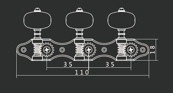 2 pc per set High-end klassieke gitaarstempels Machinekoppen zwarte - Muziekinstrumenten - Foto 5