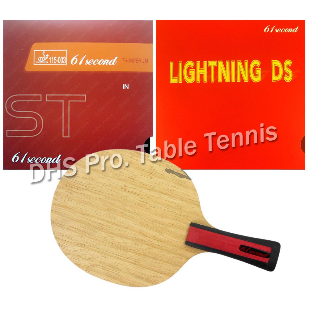 Pro Table Tennis Combo Paddle Racket 61second 3004 with 61second Lightning DS and LM ST Shakehand-FL with a free small casePro Table Tennis Combo Paddle Racket 61second 3004 with 61second Lightning DS and LM ST Shakehand-FL with a free small case