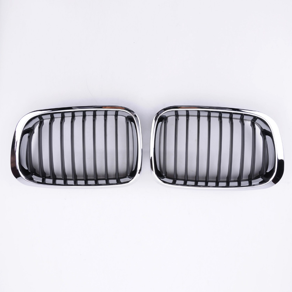 Wotefusi ensemble calandre chromé pour BMW E46 3 séries 1998 1999 2000 2001 4 portes coupé [QPL26]