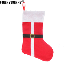 FUNNYBUNNY Christmas Gift Holder Stocking Candy Xmas Santa Bag Socks New Years Decoration