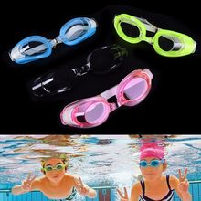 Adjustable Children Kids Waterproof Silicone Anti Fog UV Shield Swimming Glasses Goggles Eyewear Eyeglasses 4 Color(China)