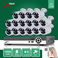 ANRAN 16CH HDMI 1080N DVR 16PCS 720P Outdoor D N Home Surveillance CCTV Security Camera System