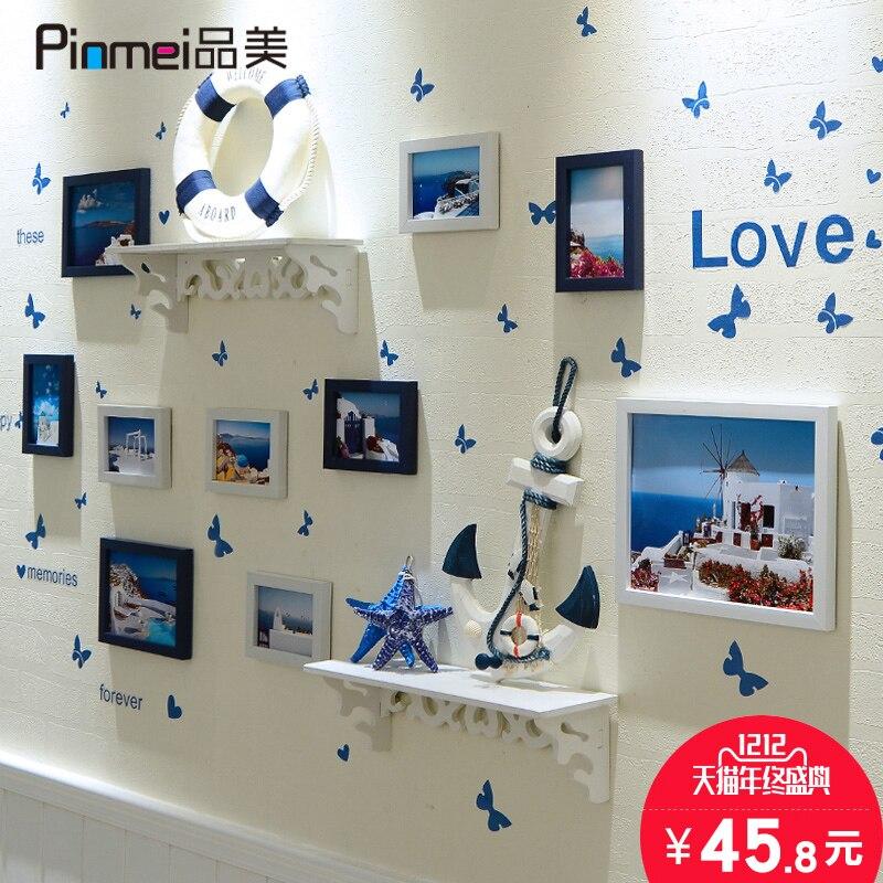 Výrobky pro Středozemní moře Kosmetické výrobky Photo Wall Svatební Photo Art 7, 10 inch Photo Frame Set Visící Doplňky pro Dekoraci Domů