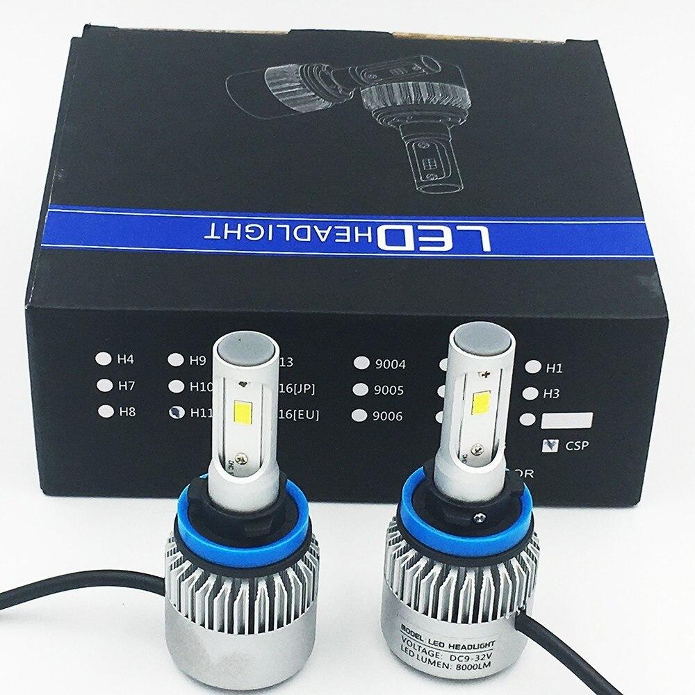 2X S2 H11 CSP Del Faro 72 W 8000LM LED Auto Fari Lampadina Della Luce di Nebbia 6500 K 24 V dans Phare Ampoules de Automobiles et Motos