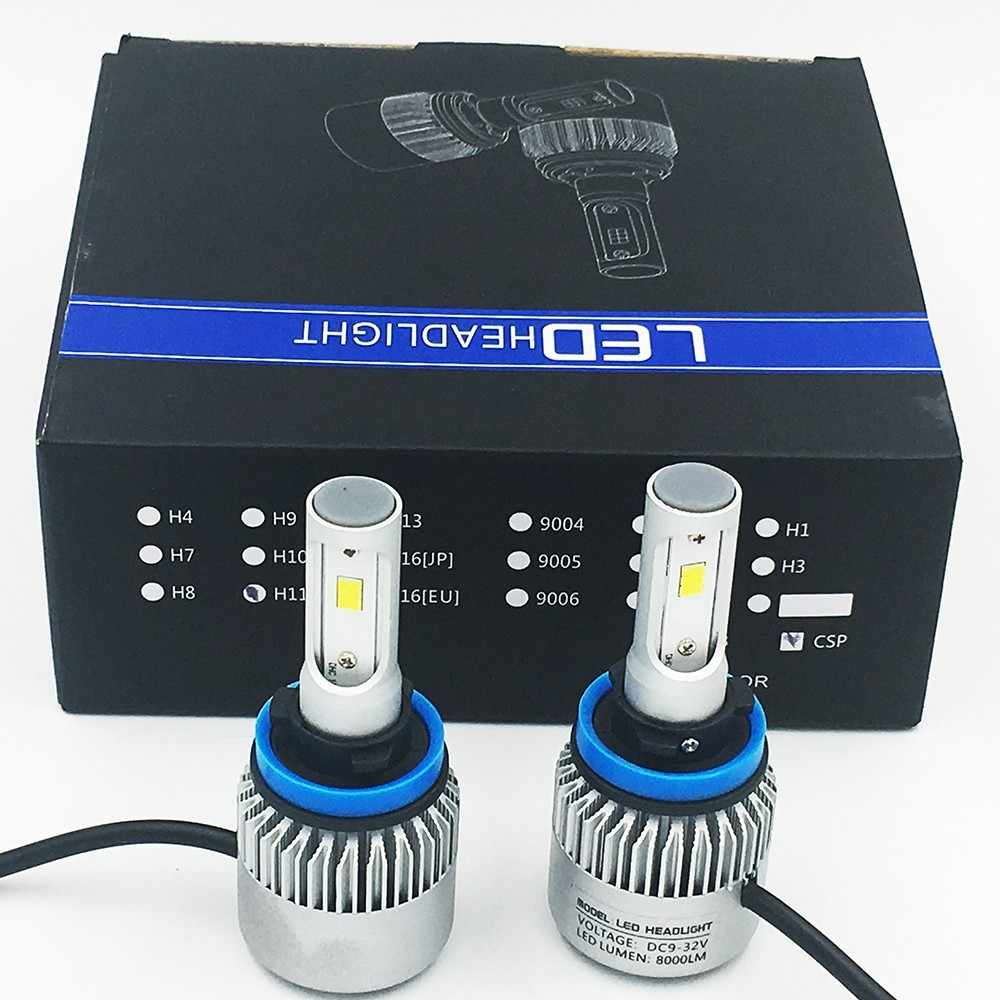 2X S2 H11 CSP Del Faro 72 W фары для 8000LM светодиодный Авто ФАРИ Lampadina Della Luce di Nebbia 6500 K 24 V