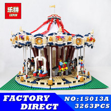 Creator Carousel Model Building LEPIN 15013 3263Pcs City Street Kits Blocks Toys for Children Compatible 10196 Birthday Gift