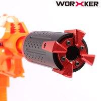 Arbeiter Hades Aluminiumlegierung Vorne Rohr Dekorative Kappe für Nerf Professionelle Spielzeugpistole Zubehör-Schwarz + Rot