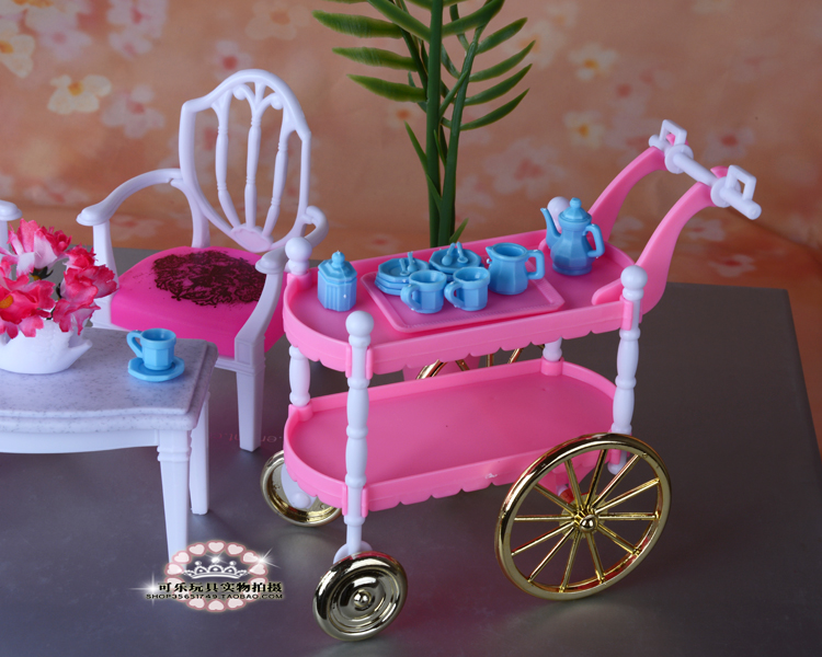 Free shipping,Hot-Selling Children Play Toys Girls Birthday Gift Cake Car Accessories For Barbie Doll