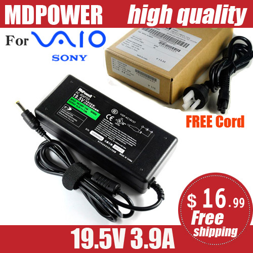 MDPOWER For SONY Laptop Power AC Adapter Charger 19.5V 3.9A