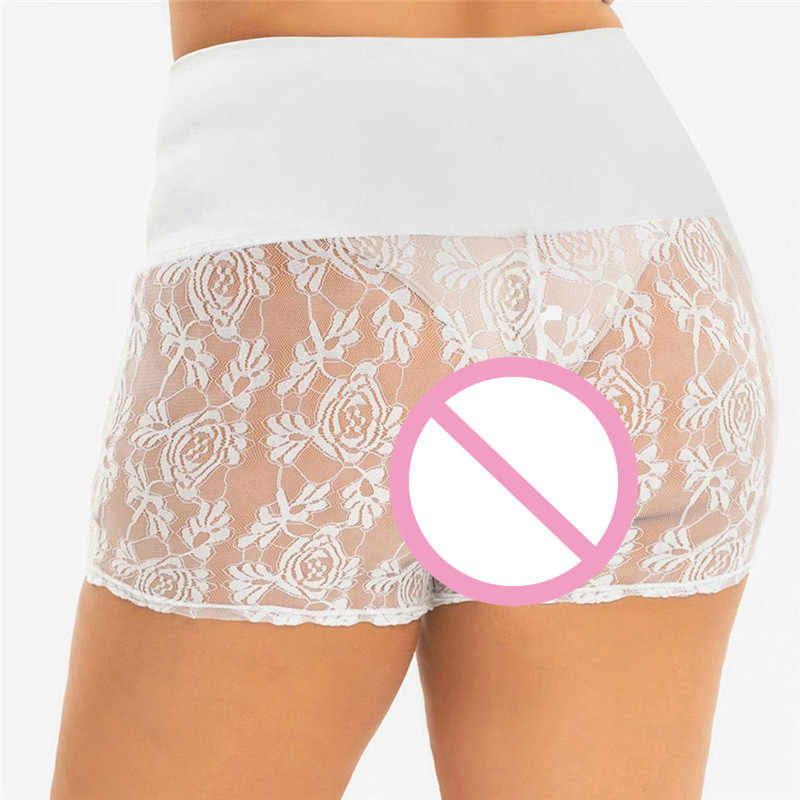 JAYCOSIN spodnie bezpieczeństwa kobiet Plus rozmiar moda Sexy połowie talii koronki gorące spodenki elastyczne spodnie sportowe spodnie bezpieczeństwa pnie Jul