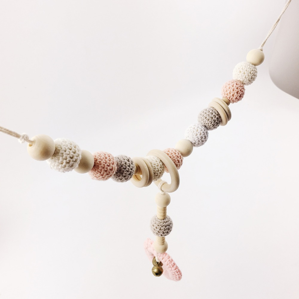 Let's Make NEW Crochet Baby Stroller Chain Car Seat Chain Pram Chain Organic And Natural Beads Are Safe For Teething Stylish