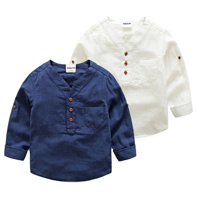 2017 spring children 39 s clothing kids white shirt boys long for Best dress shirts 2017
