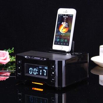 Bluetooth-колонка NFC, док-станция для зарядки iPhone и Android с fm-радио, будильник, 2019