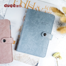 A6 Retro Vintage Leather Cover Loose-leaf Notebook Note Book Replaceable Paper Traveler Notepad Stationery Supplies