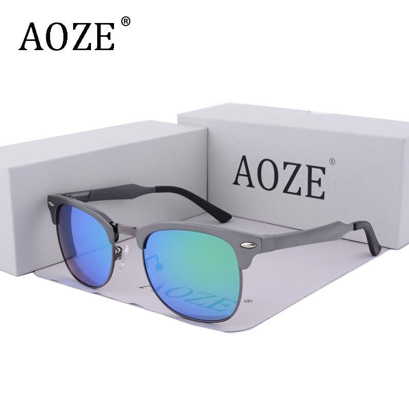 AOZENew Polarized Sunglasses Men 2018 Aluminum Magnesium Alloy Frame Casual Driving Glasses Women Semi Frame m Nails uv400 8558 in Women 39 s Sunglasses from Apparel Accessories