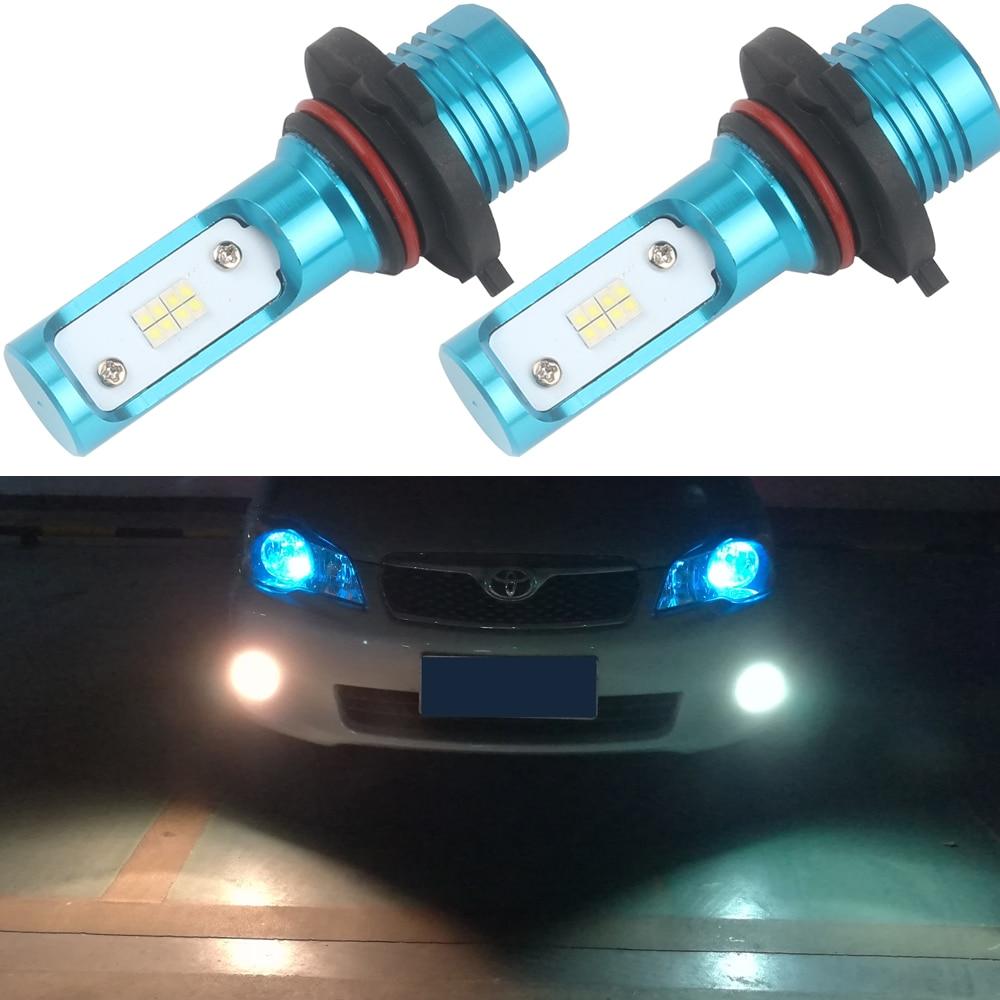 Senzeal 2x Universal 80W 1200LM HB4 9006 LED Driving Bulbs 9145 9140 H10 LED Car Fog Lights 9005 HB3 LED Daytime Running Lamps