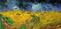 Wheat Field with Crows Hand Painted Oil Painting Vincent Van Gogh Art Reproduction Wall Art for Home Decor