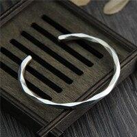 Таиланд Чиангмай ручной работы серебро 999 стерлингового серебра Браслеты Женский персонализированные оригинальный твердый браслет