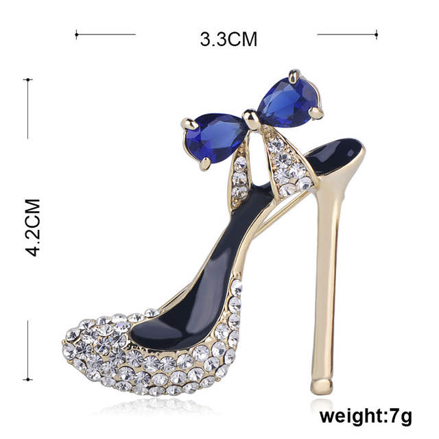 21d9a9830ea9e ... fashion High Heel Crystals Shoes Brooch Gold Color Red Enamel Brooches  Jewelry Pins Women Party Clothes Accessories on Aliexpress.com | alibaba  group