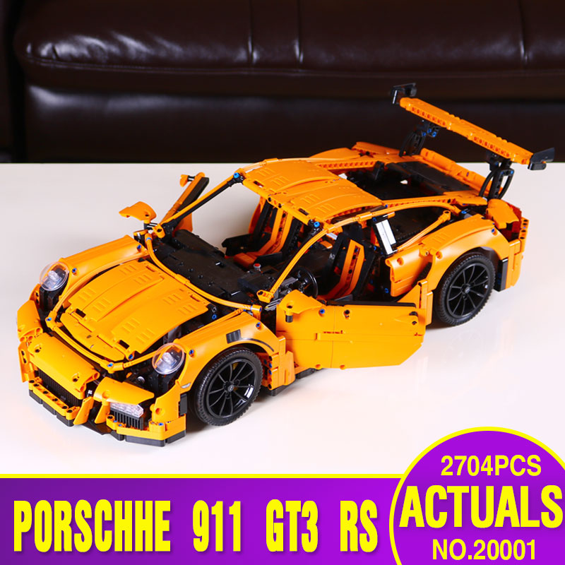 font b LEPIN b font 20001 technic series 911 GT3 RS Model Building Kits Minifigures