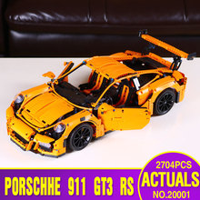 LEPIN 20001 technic series 911 GT3 RS Model Educational Building Kits Blocks Bricks Boy Toys Compatible