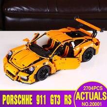 LEPIN 20001 RS technic serii 911 GT3 Modelu Budynku Zestawy Edukacyjne Bloki Cegieł Chłopiec Zabawki Kompatybilny 42056 Christmas Gift