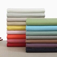 купить Cotton cloth casual pants Robe dress Diy cross stitch Plain linen Solid color fabric дешево