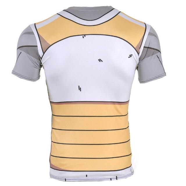Hipsterme Brand Anime Dragon Ball Z Vegeta T Shirt Men Super Saiyan Goku tight Cosplay T-Shirt homme compression shirt corssfit