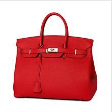 lady genuine cow leather handbag  brand luxury design size  25cm  30 cm 35 cm  shoulder crossbody bag with lock