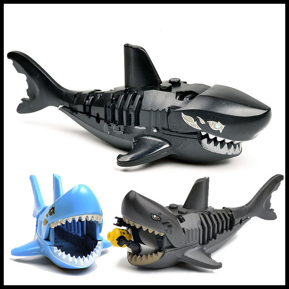 Building Blocks Pirates of the Caribbean Ghost Zombie Shark toys for children Building Blocks Sharks Compatible legoings boy toy