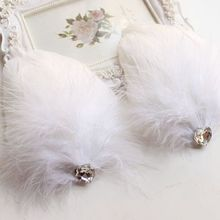Elegant Feather Clip Hairpin Lady Girl Hair Snap DIY Bride Boutique Wedding Bridal Head Decoration