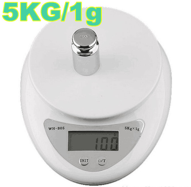 5000g /1g 5kg Digital Electronic Kitchen Scales Food Diet Postal Balance  Weight Weighing Scale