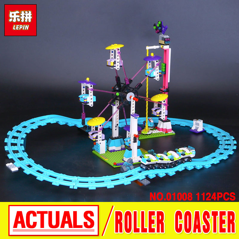Lepin 01008 Model building kits compatible with  city girls  Amusement Park 3D blocks Educational model building toy Funny Gift lepin 02012 city deepwater exploration vessel 60095 building blocks policeman toys children compatible with lego gift kid sets