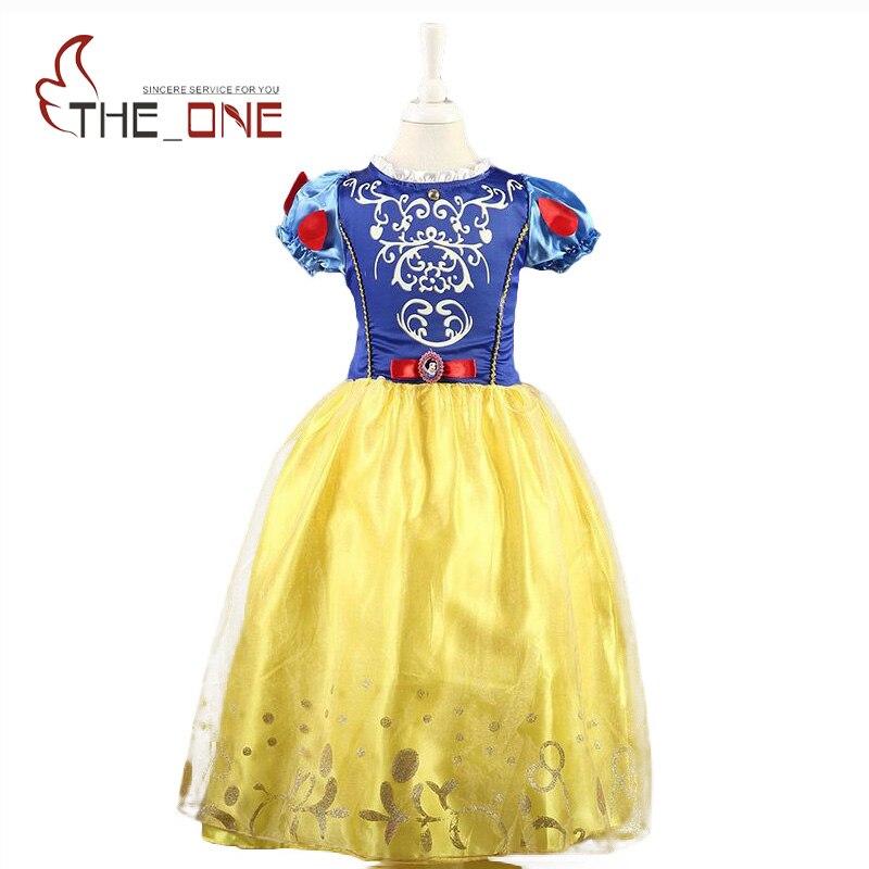 все цены на Girls Dresses Belle Princess Costume Dresses Children Cinderella Sleeping Beauty Rapunzel Cosplay Clothing Kids Party Dress онлайн