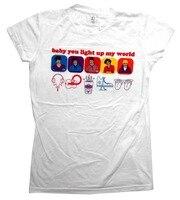 2018 di Marca di Modo 1D il Bambino Si Accendono Il Mio Mondo Boy Band Principessa Delle Ragazze T-Shirt In Cotone Tee Shirts Short-manicotto del Progettista camicie