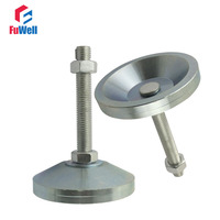 2pcs M20x100mm Adjustable Foot Cups Solid Steel Base 80mm Diameter Articulated Feet M20 Thread Leveling Foot