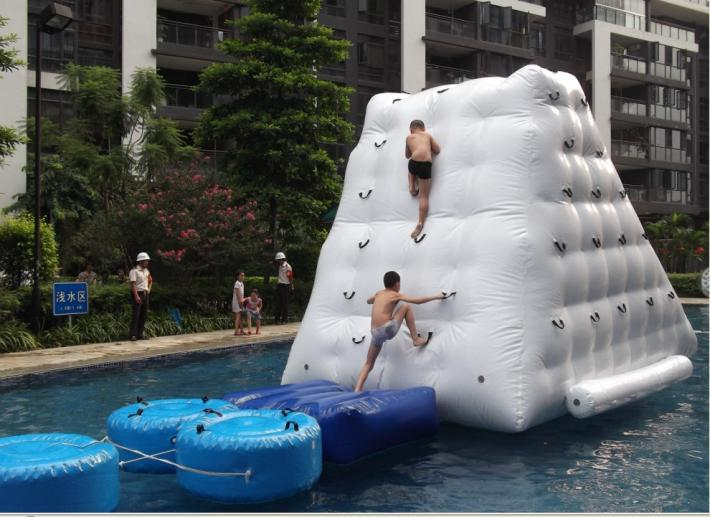 water  iceberg  inflatable toy size 2.5*2.5*2.1 water game playing in summer water park used inflatable water spoon outdoor game water ball summer water spray beach ball lawn playing ball children s toy ball