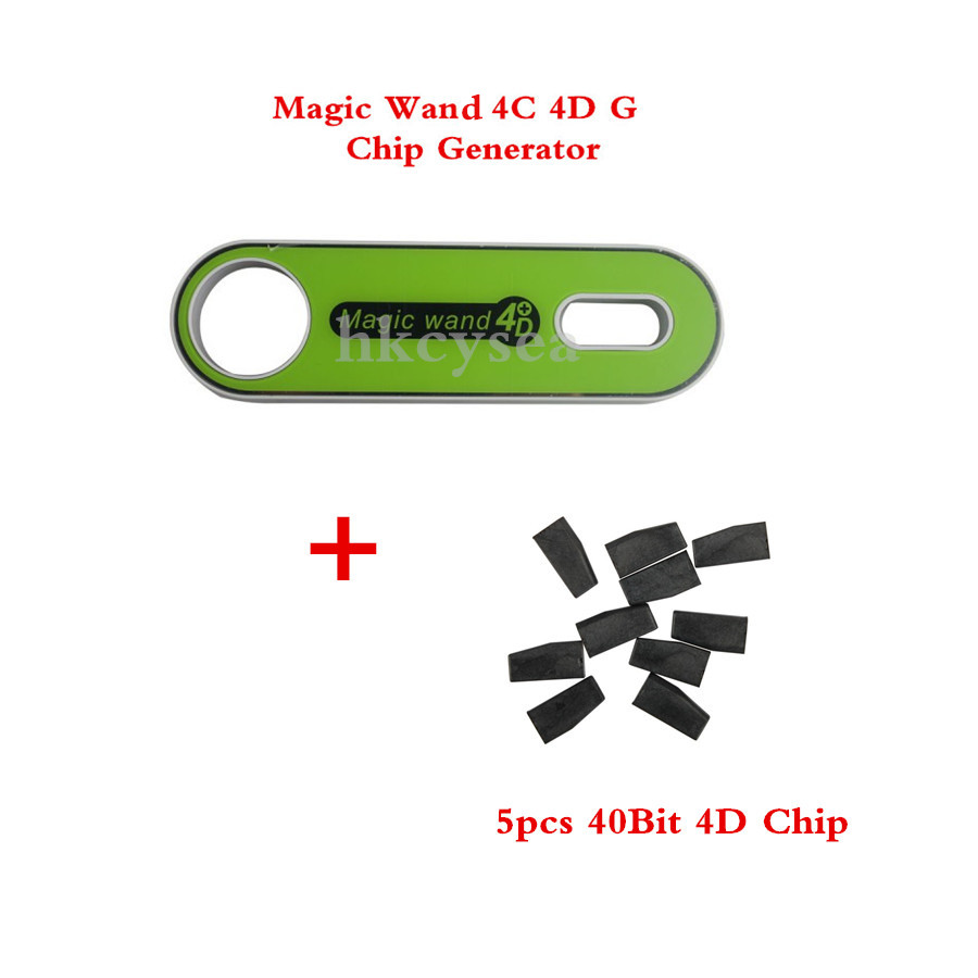 Magic Wand 4C 4D Transponder Chip Generator G Chip Converter For Mazda Ford with 5pcs Special