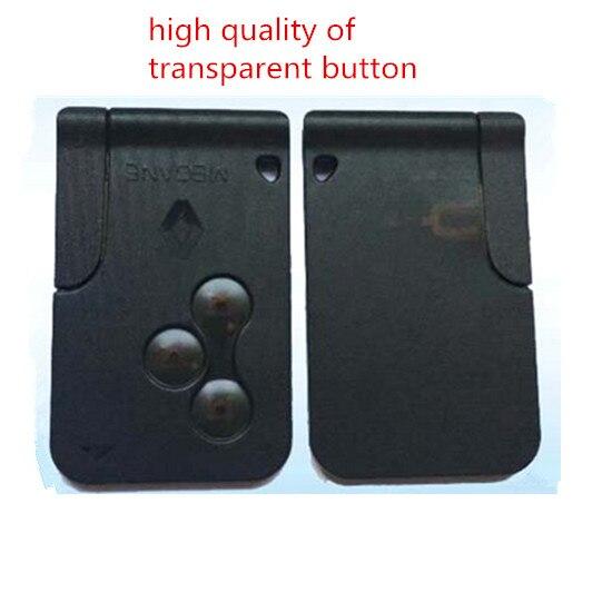imágenes para Llave inteligente 433 Mhz pcf7947 chip de control de la llave del coche auto inteligente clave de tarjeta inteligente para Renault Megane 2 Envío Gratis