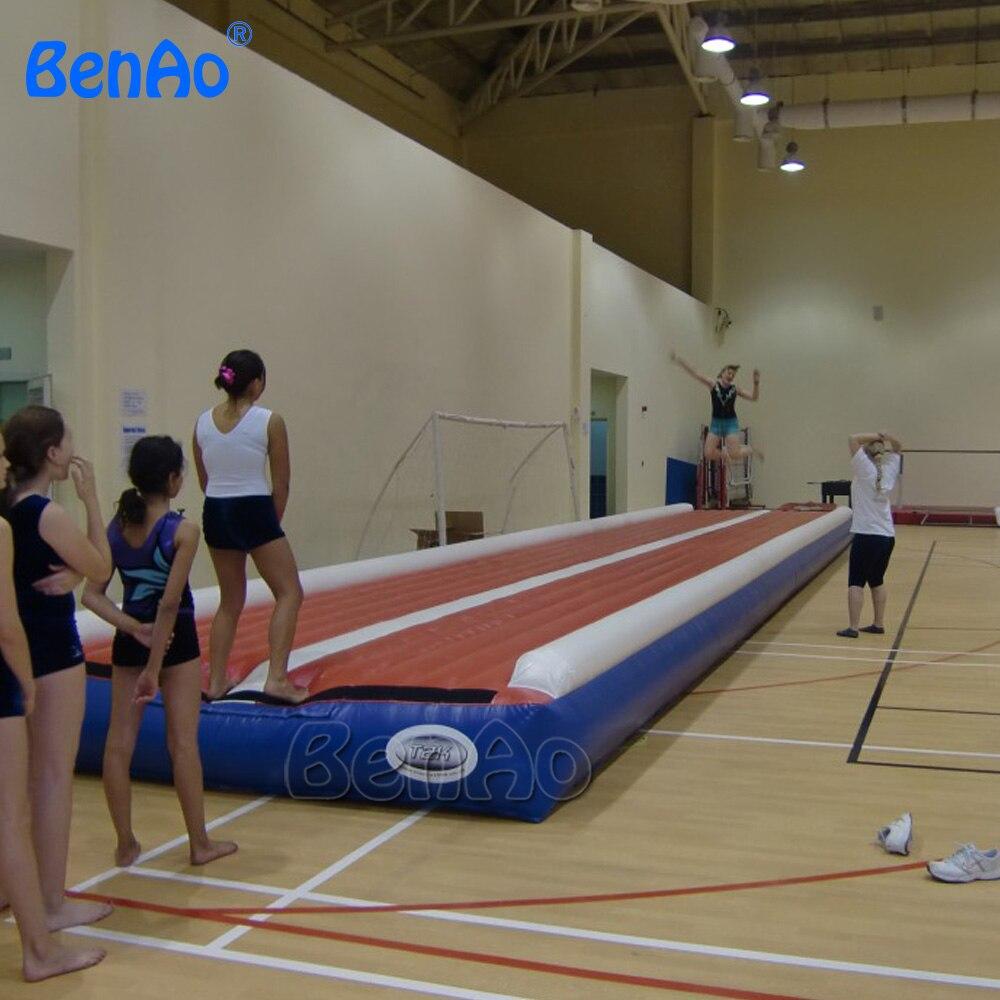 GA011 livraison gratuite 12 m 39ft gonflable air piste gonflable dégringolade piste gymnastique gonflable air mat pour gym