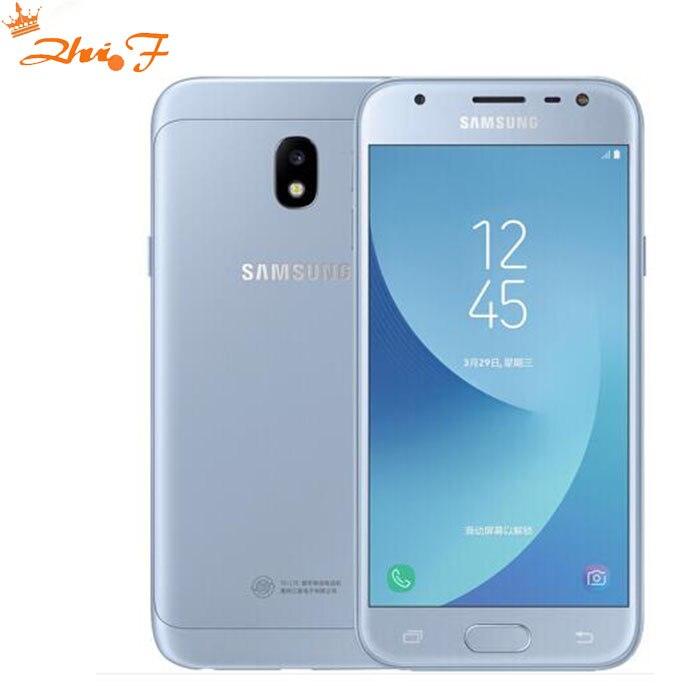 D'origine Samsung Galaxy J3 2017 J3300 j3308 Débloqué Double SIM D'empreintes Digitales 13.0MP Snapdragon Quad Core LTE Smartphone Avec NFC
