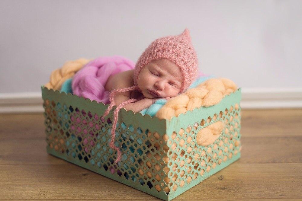 Wool Fiber Basket Filler Braid Blanket Basket Stuffer Newborn Photography Props Baby Shower Gift
