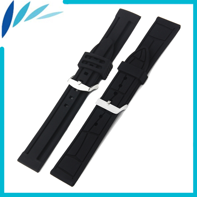 Silicone Rubber Watch Band 20mm 22mm for Rolex Watchband Strap Wrist Loop Belt Bracelet Black Men Women + Tool + Spring Bar