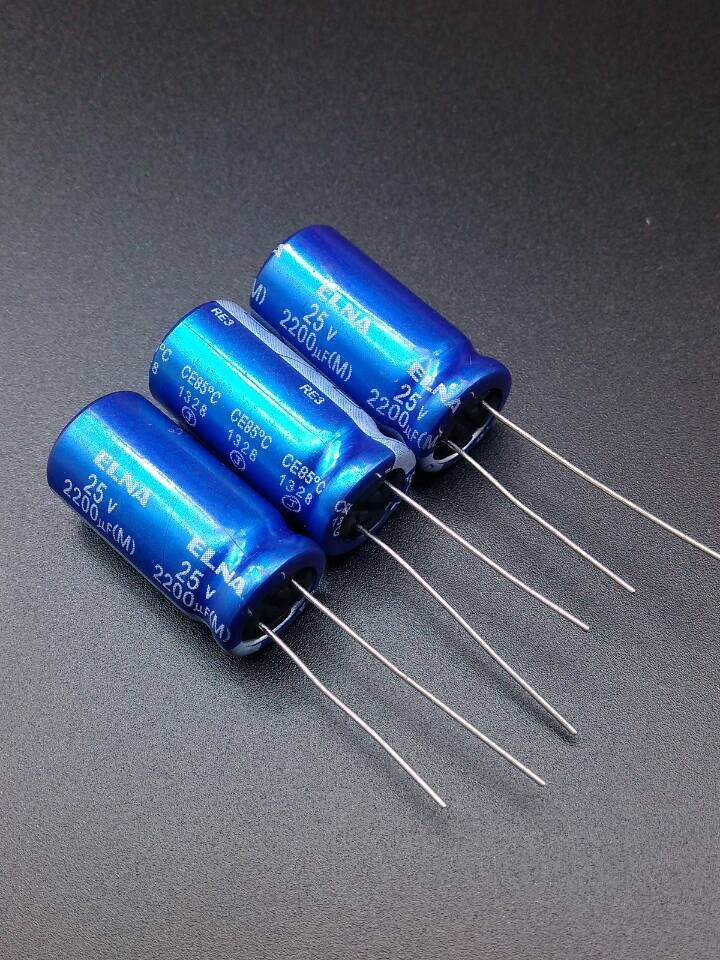 2019 Hot Sale 10pcs/30pcs Imports Of ELNA Blue Robe RE3 2200uF/25V Origl Authentic 2200uf 25v Spot 12.5*25 Free Shipping