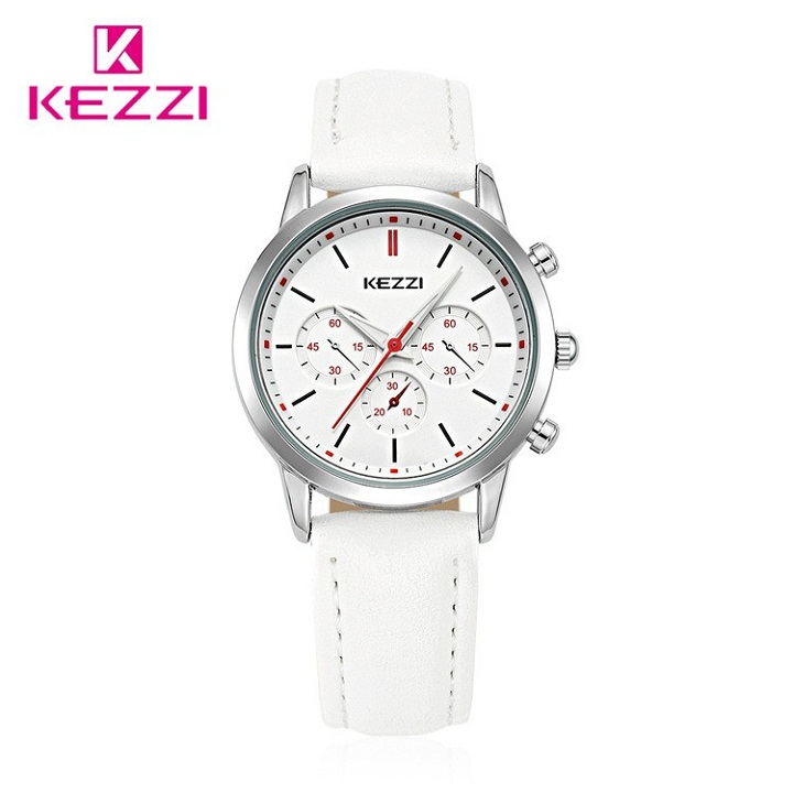 KEZZI High Quality Brand Leather Women Watch Ladies Fashion Dress Quartz Wristwatch Luxury Hot selling Watches Female Gift Colck hot sale luxury crystal rose gold high quality leather quartz gift watch wristwatch for women ladies girls 1 year warrenty