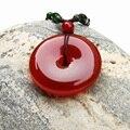 Natural pingente de ágata vermelha PingAn fivela homens e mulheres crystal fashion jóias atacado presente