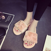 2018 women indoor slippers slides for spring autumn winter Non slip flat with home outdoor fashion shoes solid pink black gray