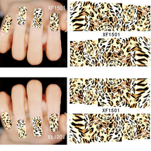 2017 Fashion Style1 Sheets 3d Design Diy Leopard Print Tip Xf1501 Nail Art Sticker Nails Decal Manicure Tools