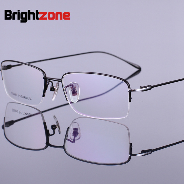8b28adc858 Brand Pure Titanium Myopia Glasses Male Frame No Fade Aviation Titanium  Gentleman Glasses Frame Glasses Frame Spectacle Frame